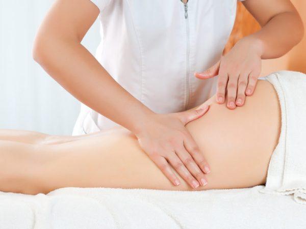 Выполнение ручного антицеллюлитного массажа