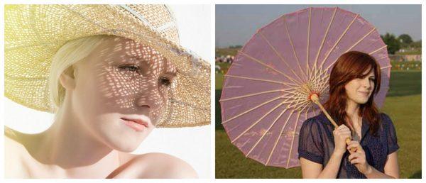 Девушка в шляпке и девушка с зонтом