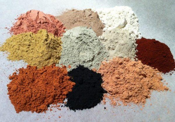 Косметическая глина разных цветов