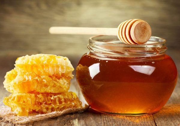 Баночка мёда и соты
