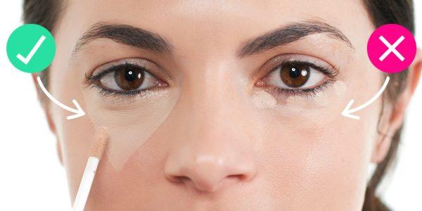 Как маскировать мешки под глазами