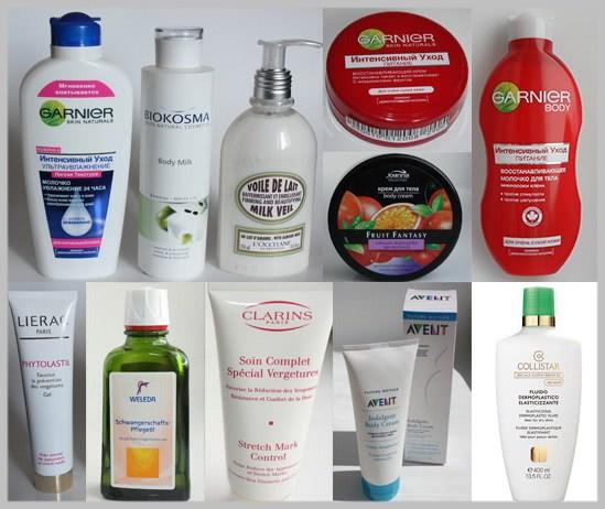 Средства для ухода за кожей с растяжками