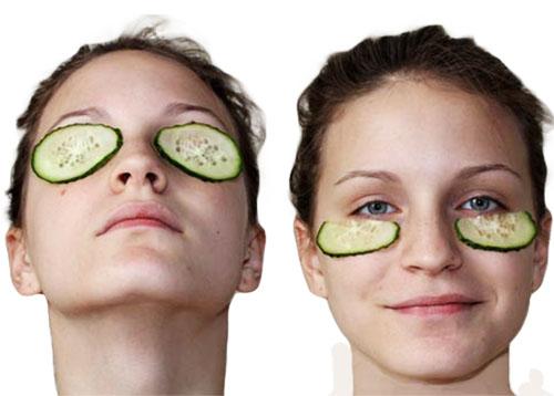 Огуречная маска для век и области вокруг глаз