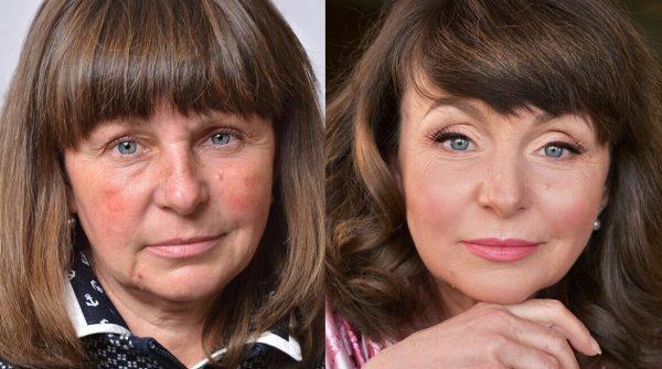 Пример омолаживающего макияжа