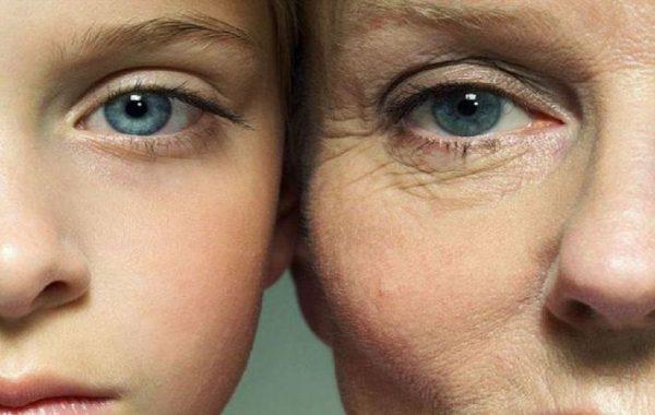 Лица женщин (в молодости и старости)