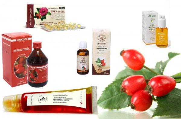 Разные виды масла шиповника