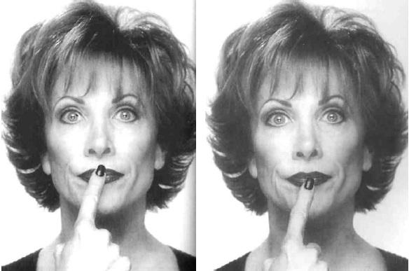 Упражнение на формирование контура губ