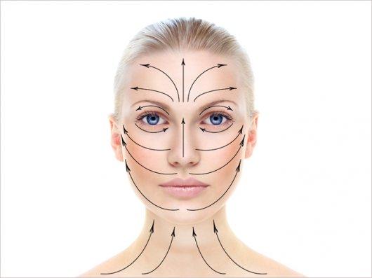 Массажные линии лица, чтобы убрать морщины