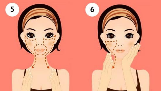Самомассаж лица: шаги 5 и 6
