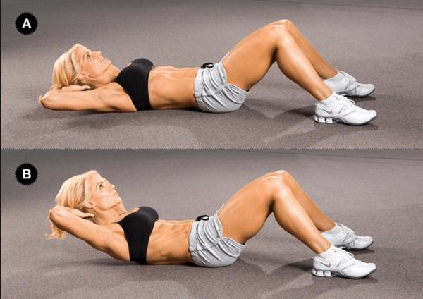 Упражнение для прямых мышц живота