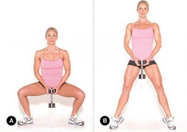 Упражнение для укрепления внутренней части бедра