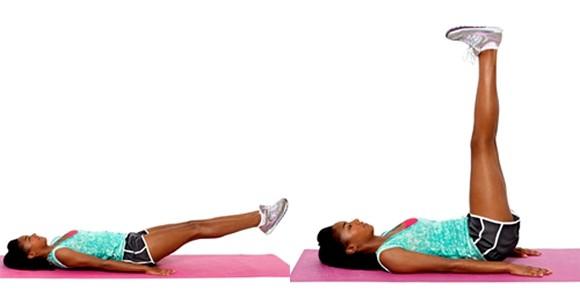 Упражнение поднятие ног