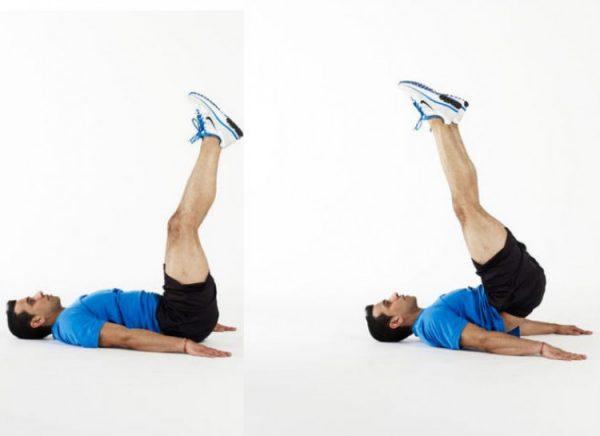 Упражнение «выталкивание ног»