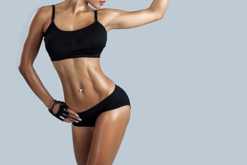 Стройное тело девушки