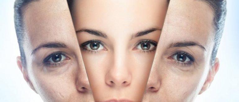 Лицо девушки и маска