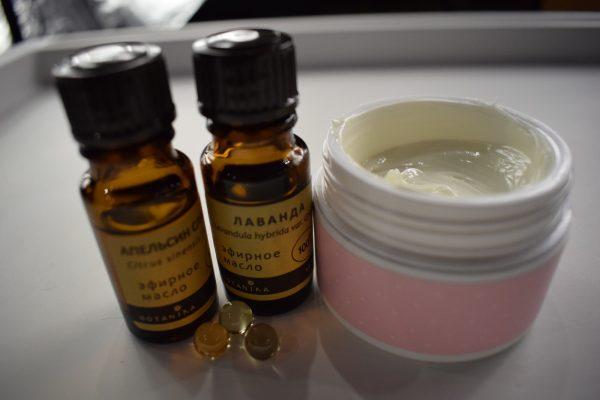 Домашний крем с эфирными маслами