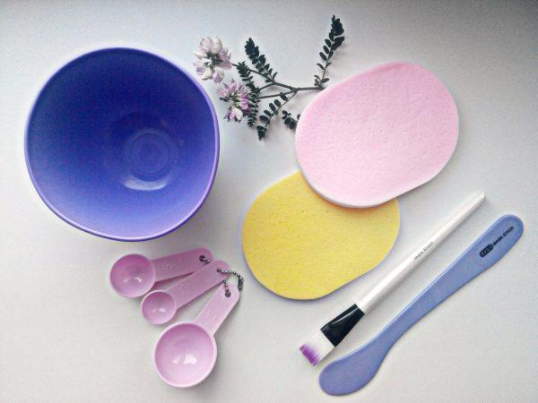 Набор посуды и принадлежности для смешивания домашних масок