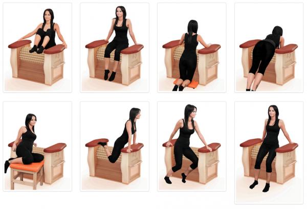Схема и примеры использования роликового массажёра Body Roll