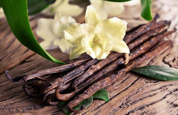 Стручки ванили и цветы